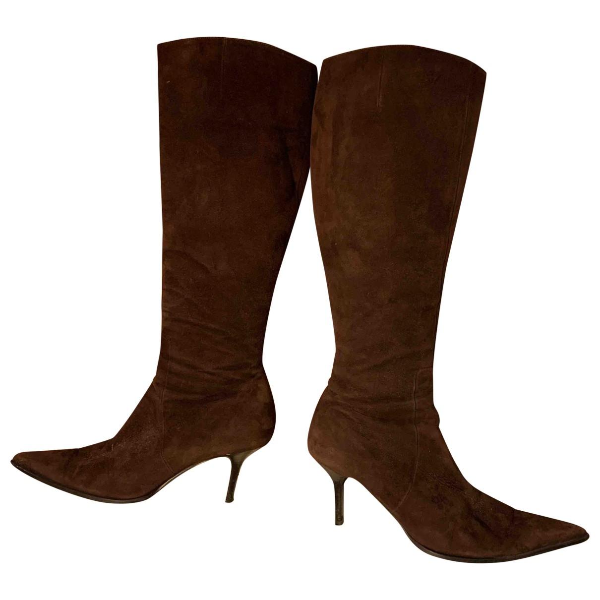 Jaime Mascaro \N Brown Suede Boots for Women 39 EU