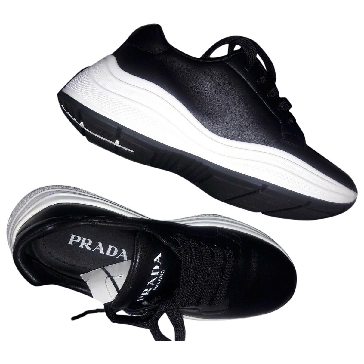 Prada \N Black Leather Trainers for Men 8 UK