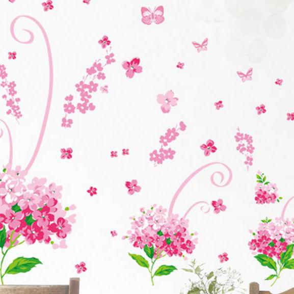 Wonderful Pretty Classic Romantic Bouquet Wall Stickers