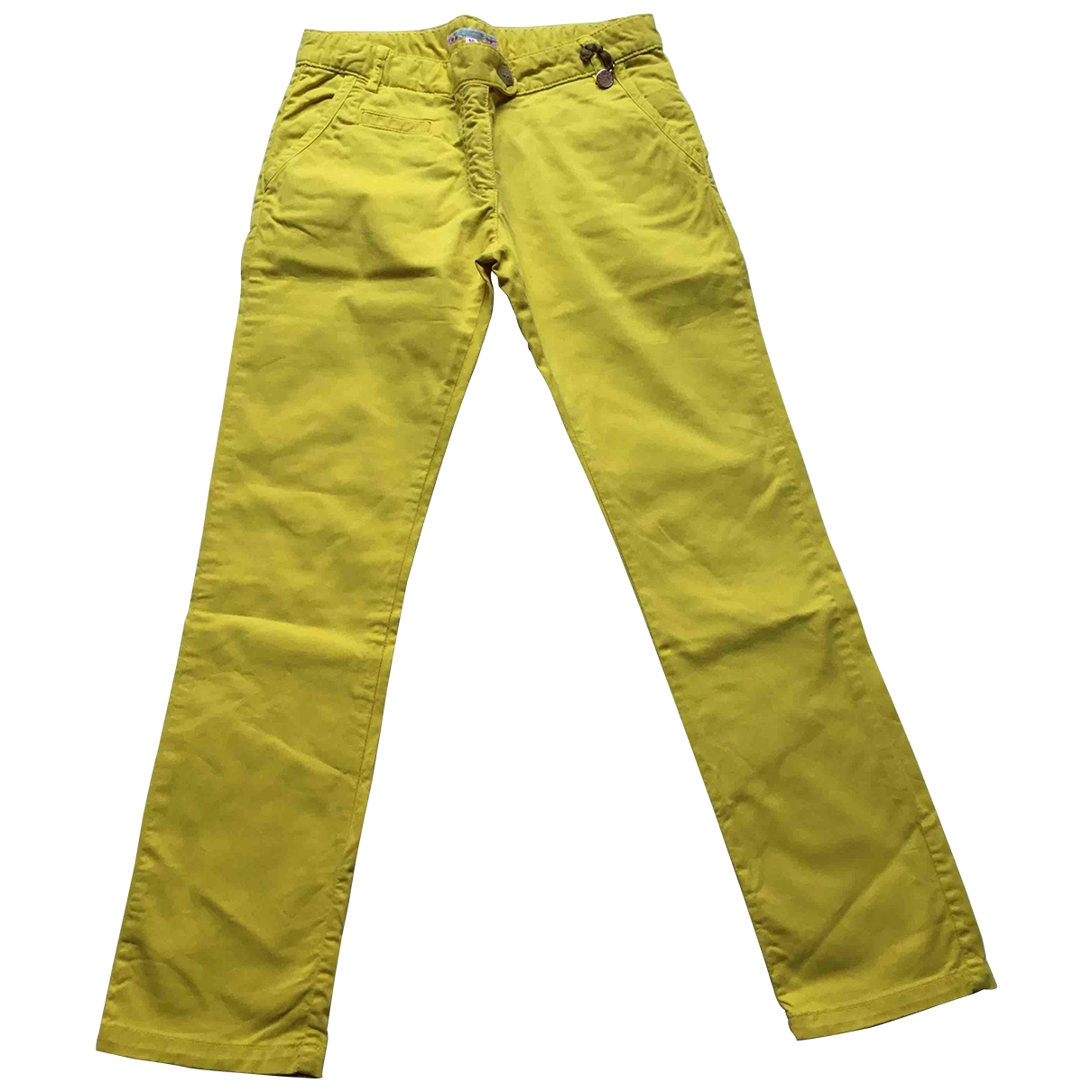 Bonpoint \N Yellow Cotton Trousers for Kids 12 years - XS FR