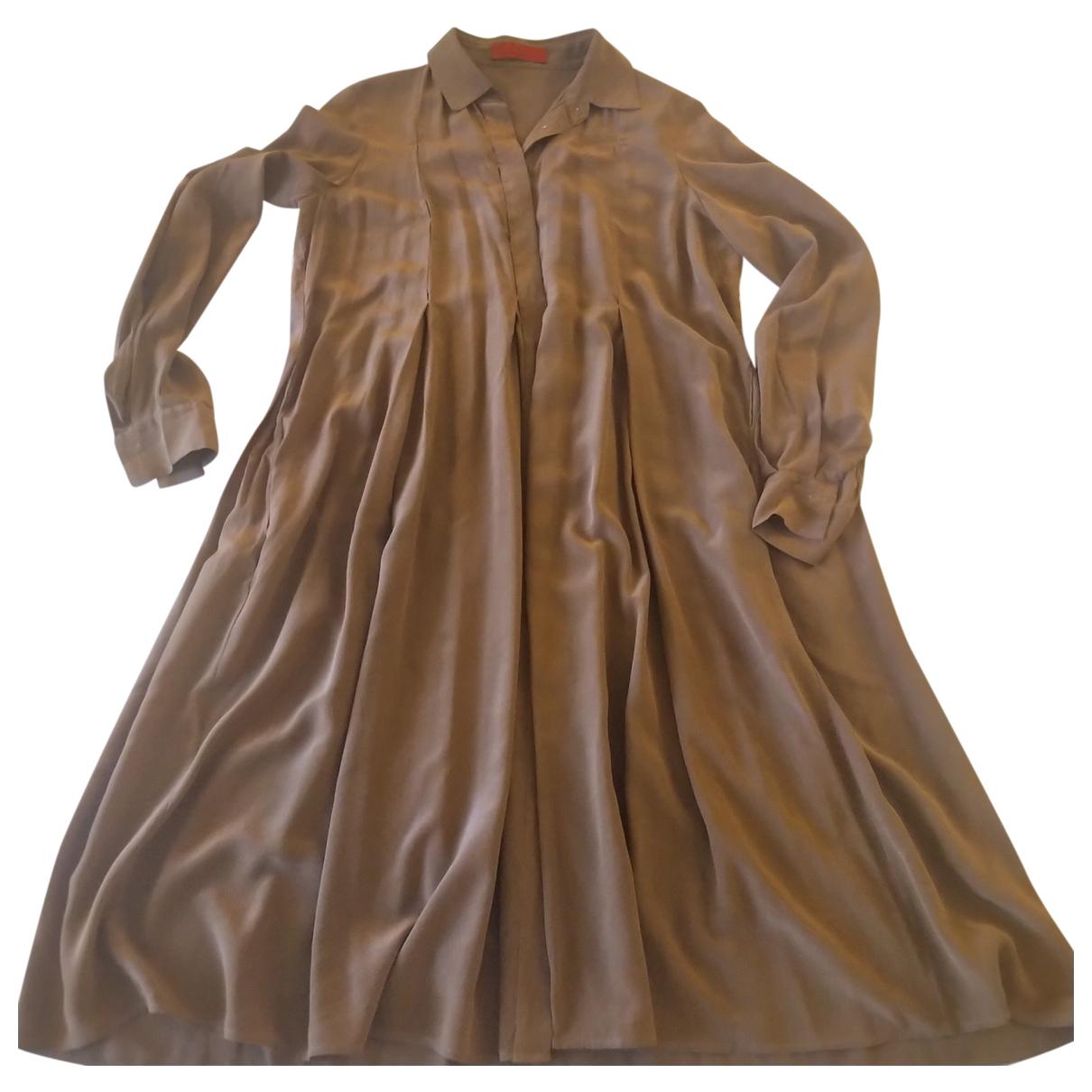 Carolina Herrera N Camel Silk dress for Women 40 FR