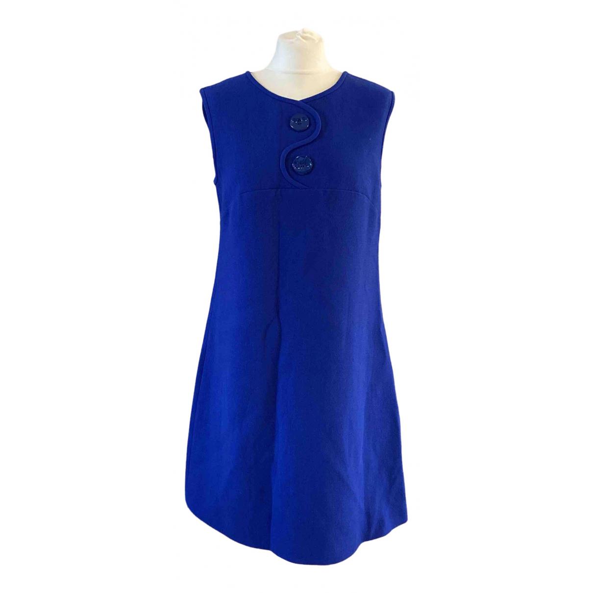 Goat - Robe   pour femme en laine - bleu