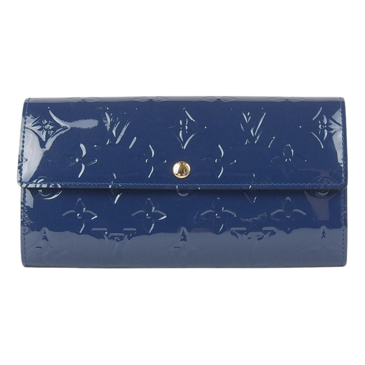 Louis Vuitton Sarah Portemonnaie in  Blau Lackleder