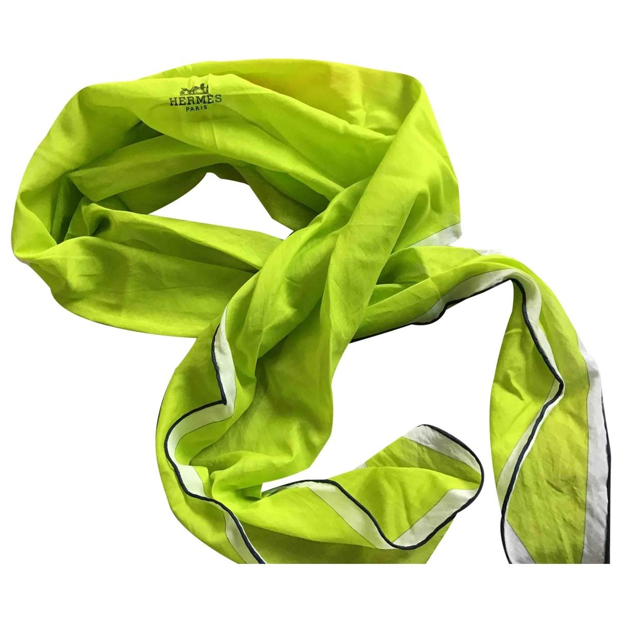 Hermes \N Schal in  Gruen Baumwolle