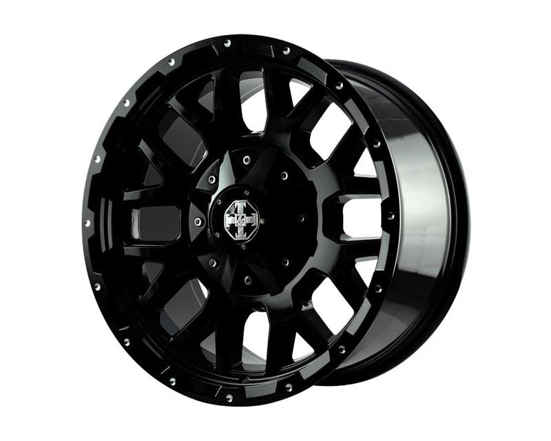 TNT Wheels 536231 Grenade Wheel 17x8.5 6x114.3/1350 0 BKGLBA Gloss Black Rivet Milling