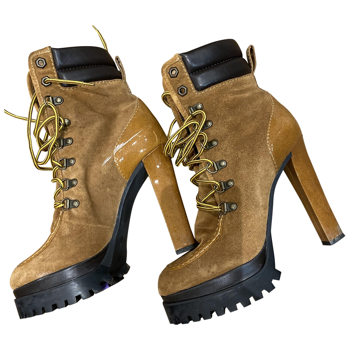 Dsquared2 \N Yellow Suede Ankle boots for Women 39 EU