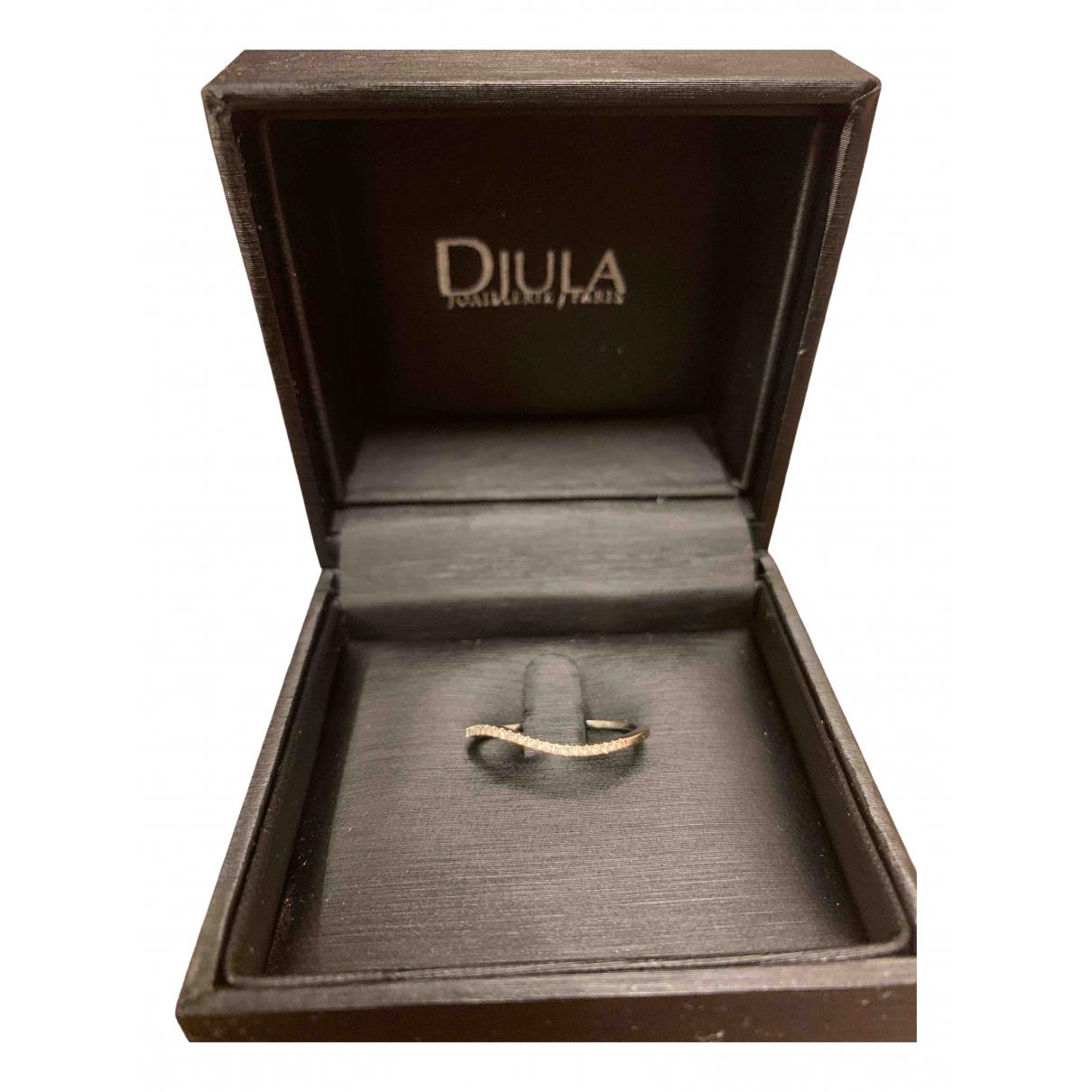 Djula - Bague   pour femme en or blanc - blanc