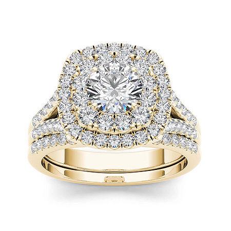 2 CT. T.W. Diamond 14K Yellow Gold Bridal Set, 7 1/2 , No Color Family