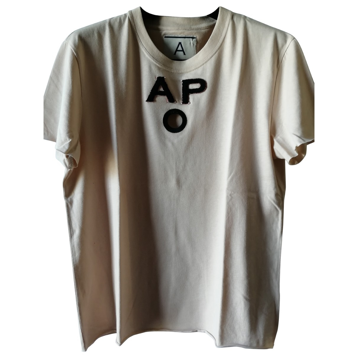 Andrea Pompilio \N T-Shirts in  Ecru Baumwolle