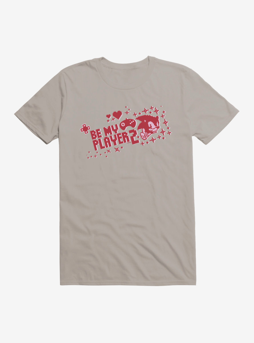 Sonic The Hedgehog Valentine Gaming Player Two T-Shirt