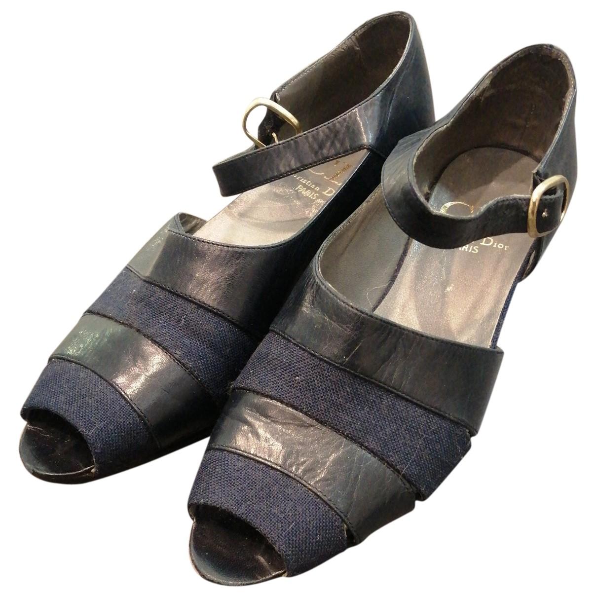 Dior - Sandales   pour femme en cuir - marine
