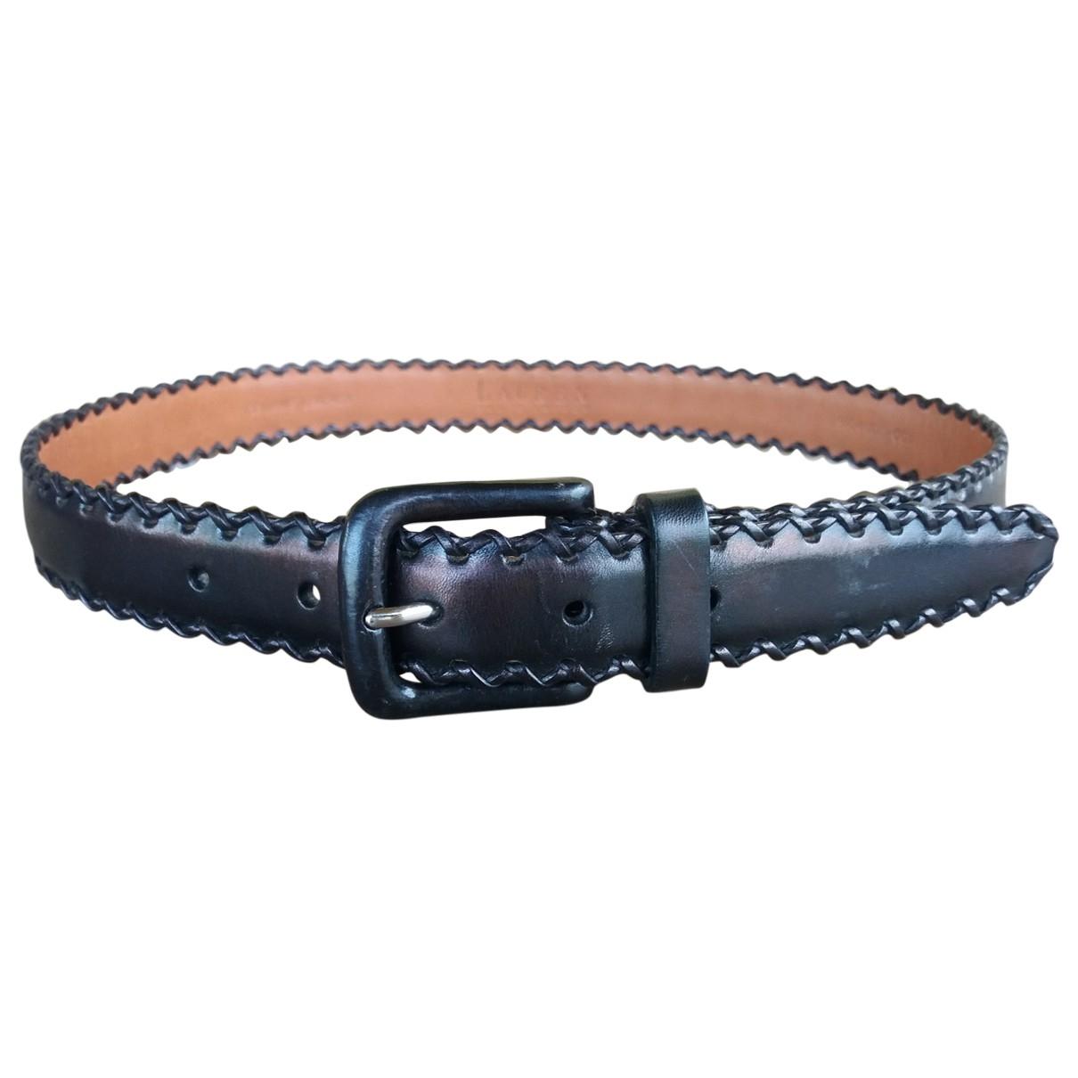 Lauren Ralph Lauren \N Black Leather belt for Women M International