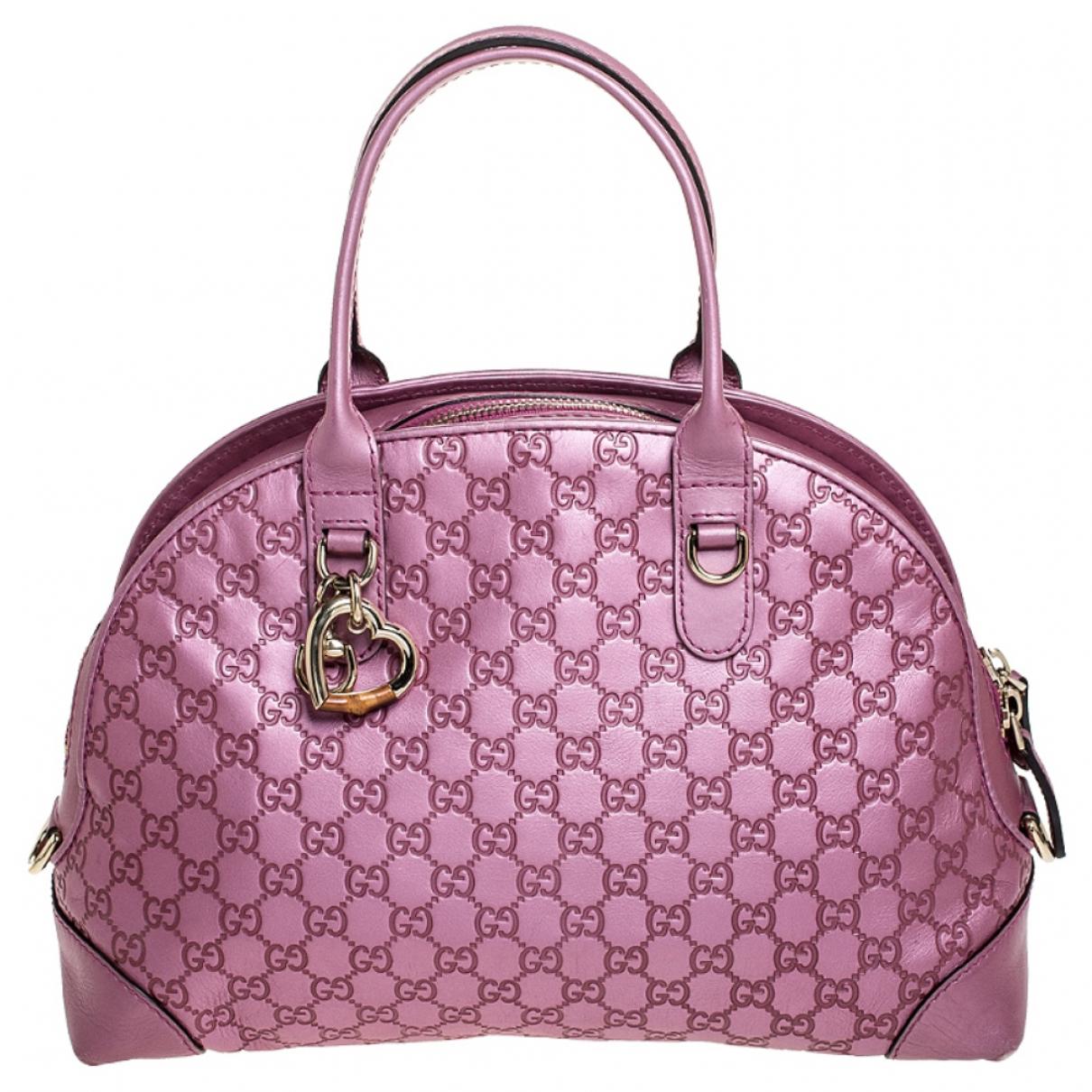 Gucci Dôme Pink Leather handbag for Women \N