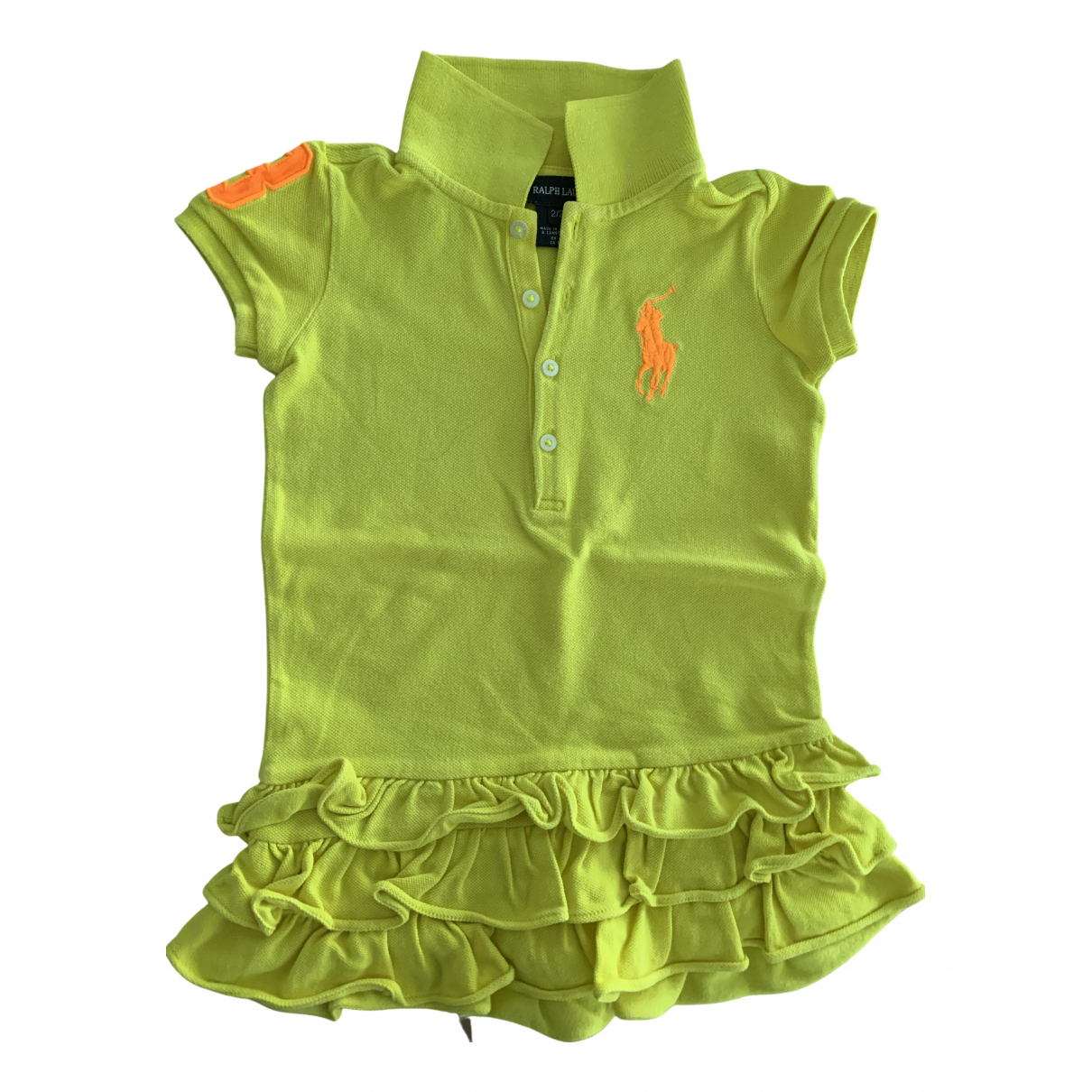 Ralph Lauren N Green Cotton dress for Kids 2 years - up to 86cm FR