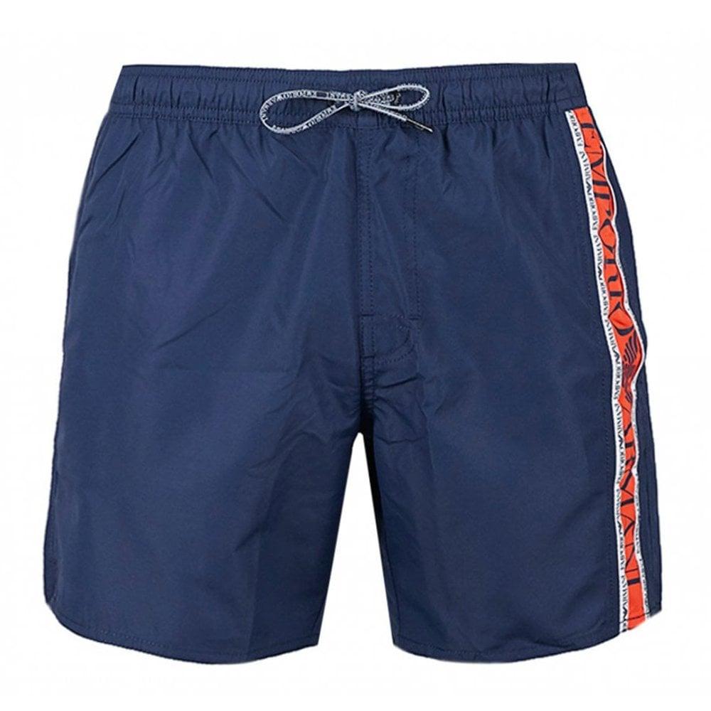 Emporio Armani Side Logo Swimshorts Colour: NAVY, Size: EXTRA EXTRA LARGE