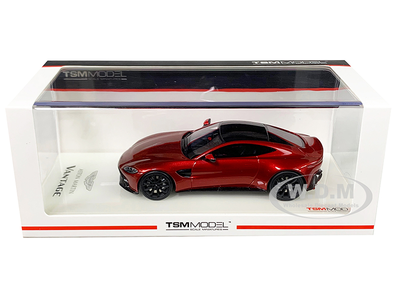 2018 Aston Martin Vantage Hyper Red with Carbon Top 1/43 Model Car by True Scale Miniatures