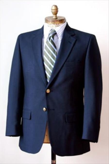 2 Button Big and Tall Size blazer 56 toWool Suit Navy