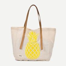 Tragetasche mit Ananasmuster
