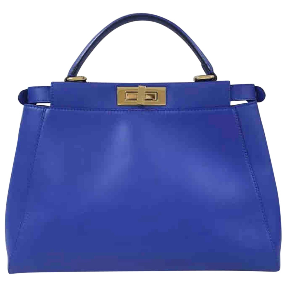 Fendi Peekaboo Blue Leather handbag for Women N