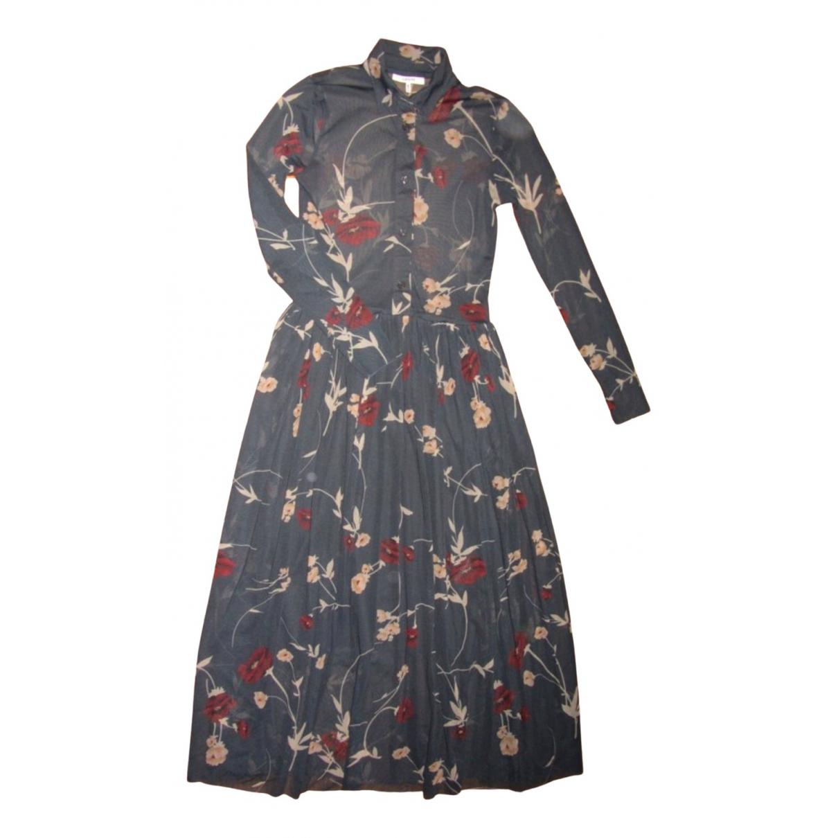 Ganni \N Kleid in  Grau Polyester