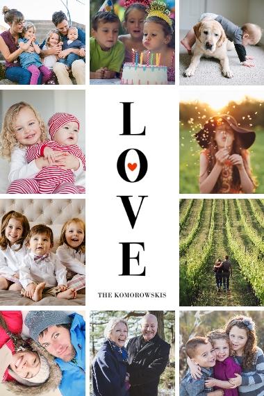 Love 12x18 Poster, Home Décor -Love Picture Tile Border