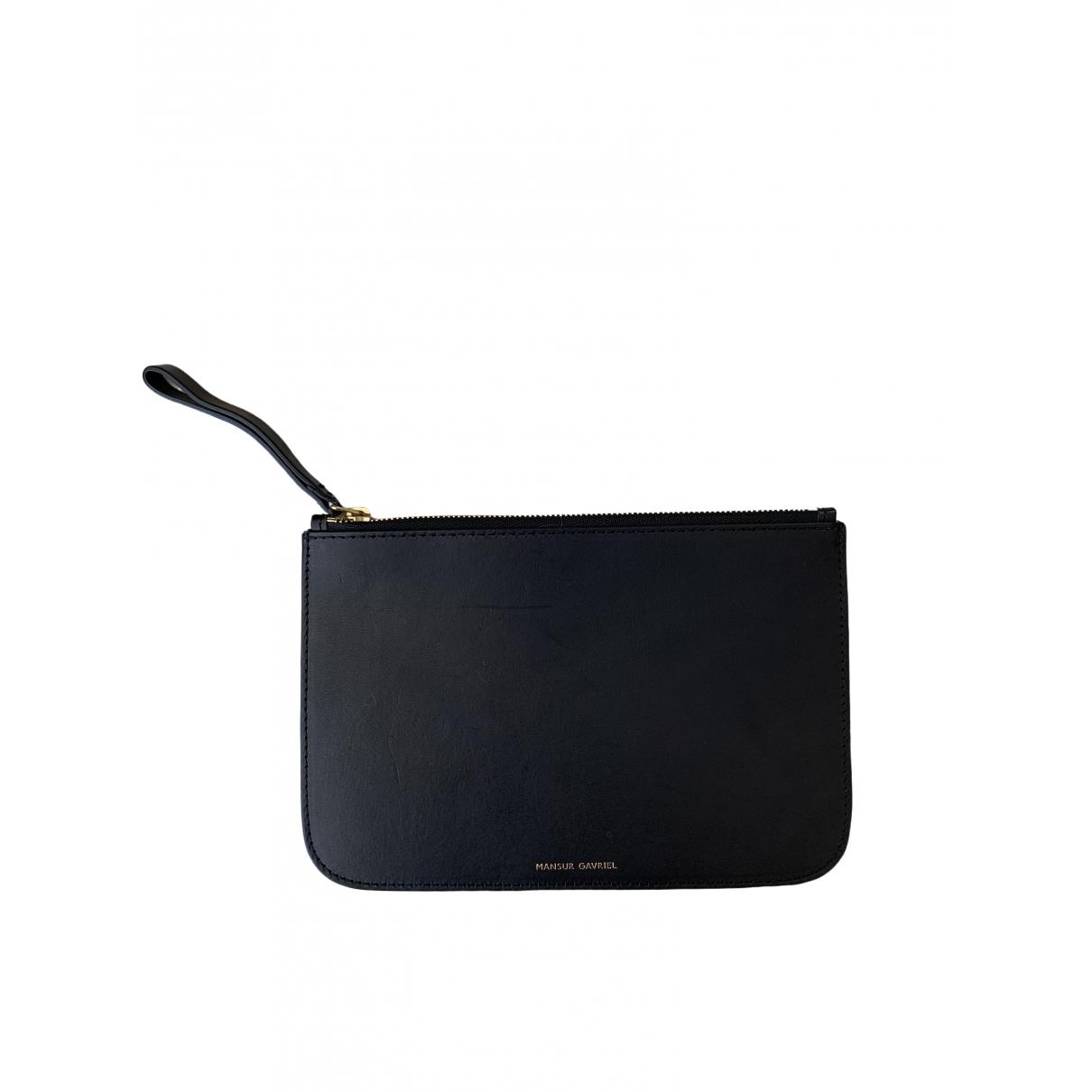 Mansur Gavriel \N Black Leather Clutch bag for Women \N