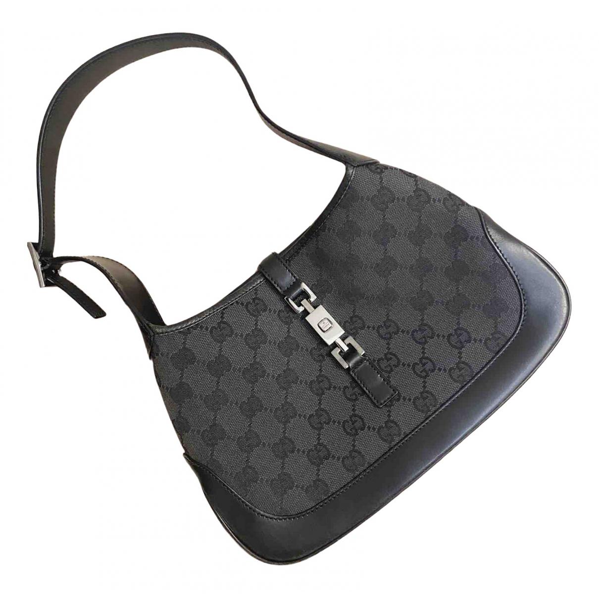 Gucci - Sac a main Jackie Vintage  pour femme en cuir - noir