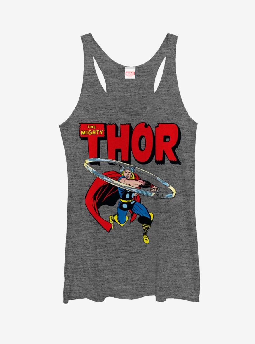Marvel Thor Hammer Swing Womens Tank Top