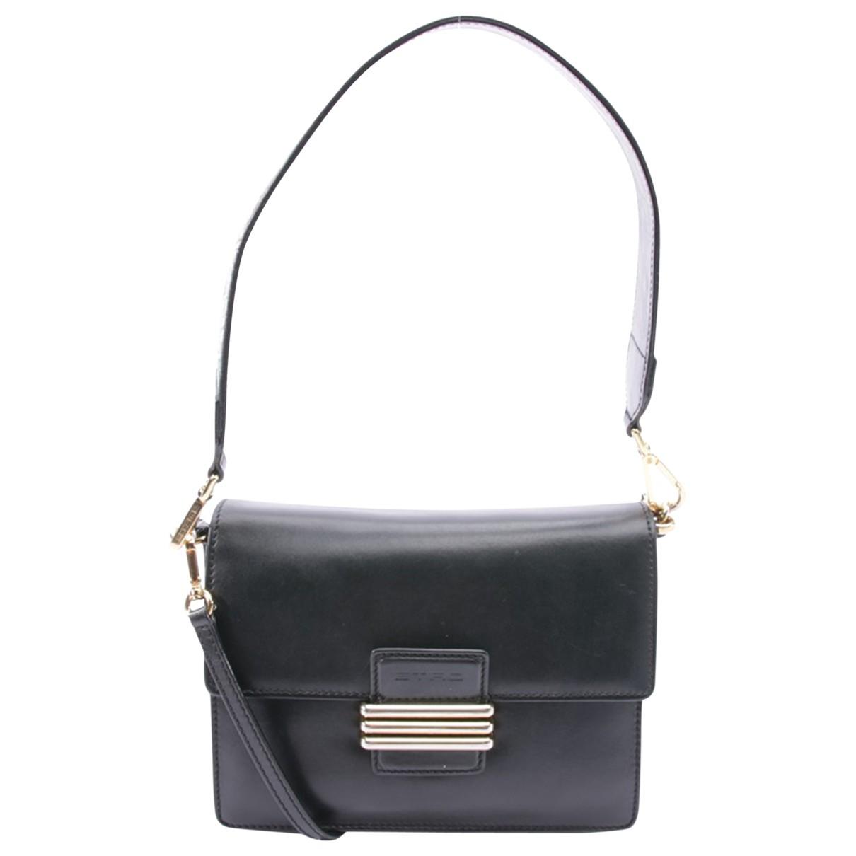 Etro \N Handtasche in  Schwarz Leder