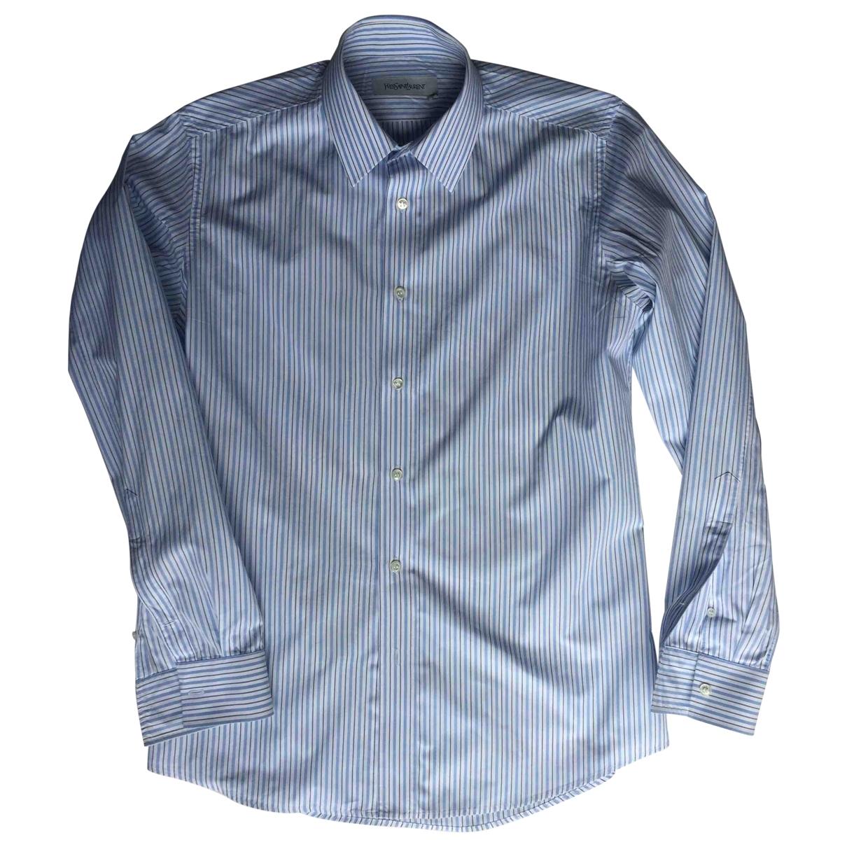 Yves Saint Laurent \N Hemden in  Blau Baumwolle