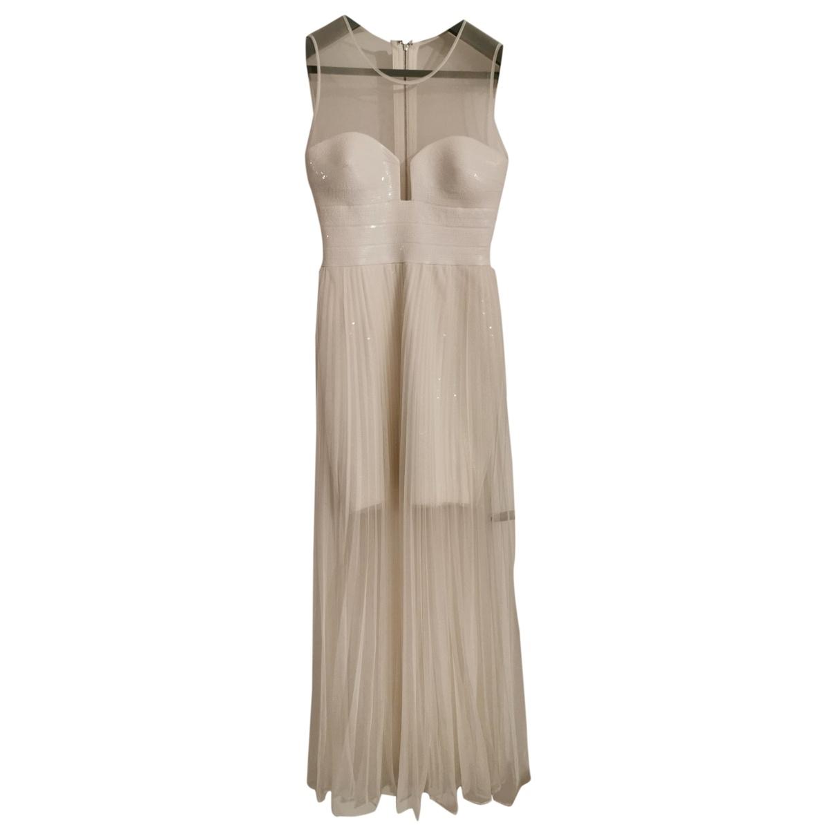 Bcbg Max Azria - Robe   pour femme en a paillettes - blanc