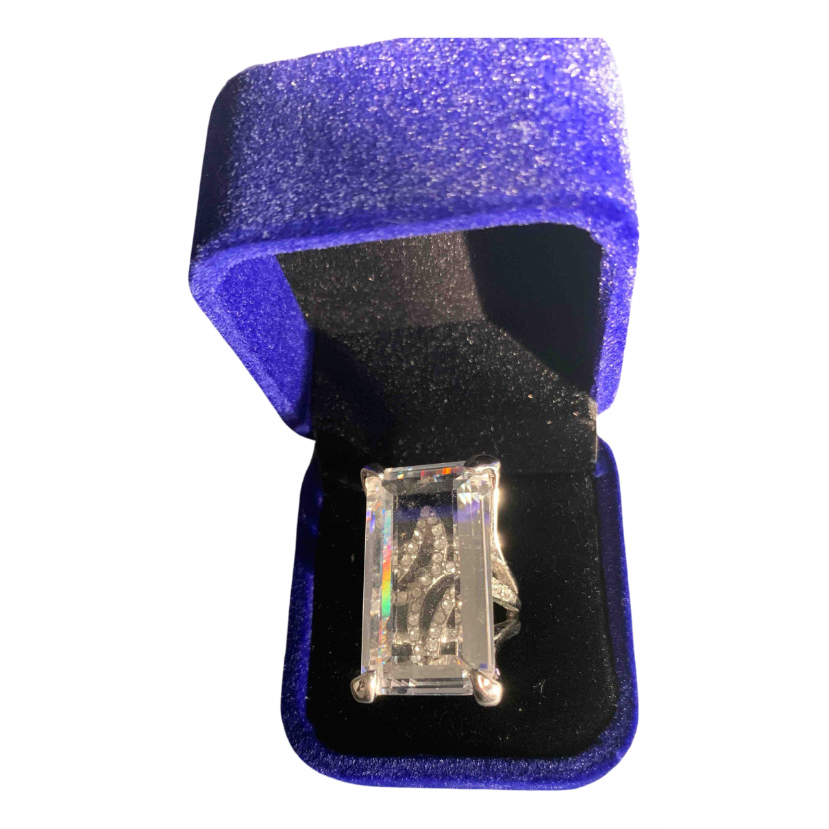 Non Signe / Unsigned \N Ring in  Silber Glas