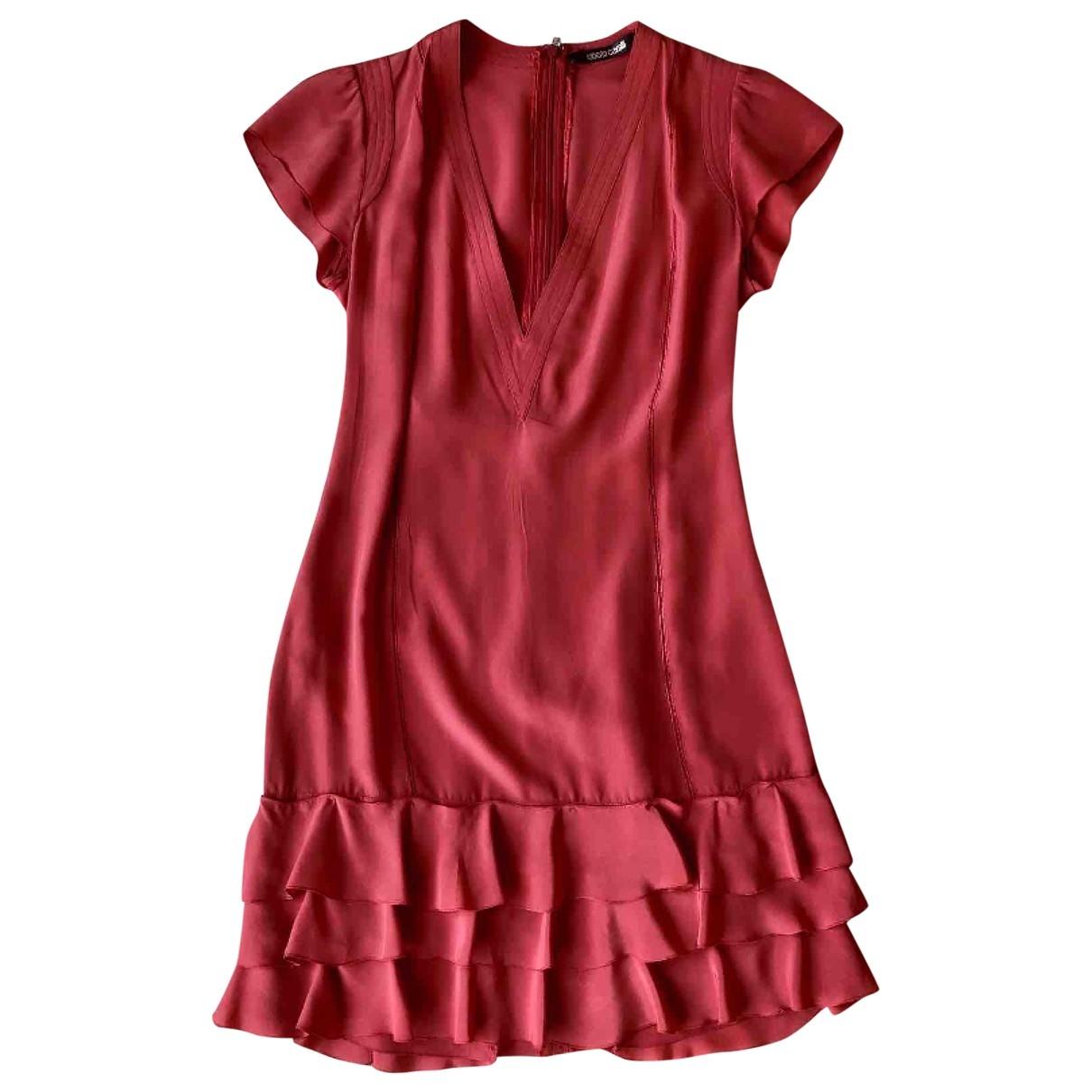 Roberto Cavalli \N Kleid in  Rot Seide