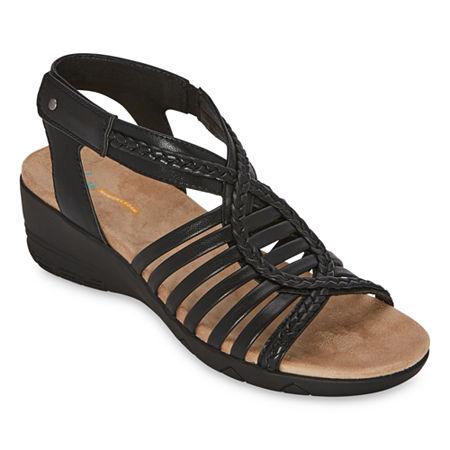 Yuu Heidi Womens Strap Sandals, 11 Medium, Black