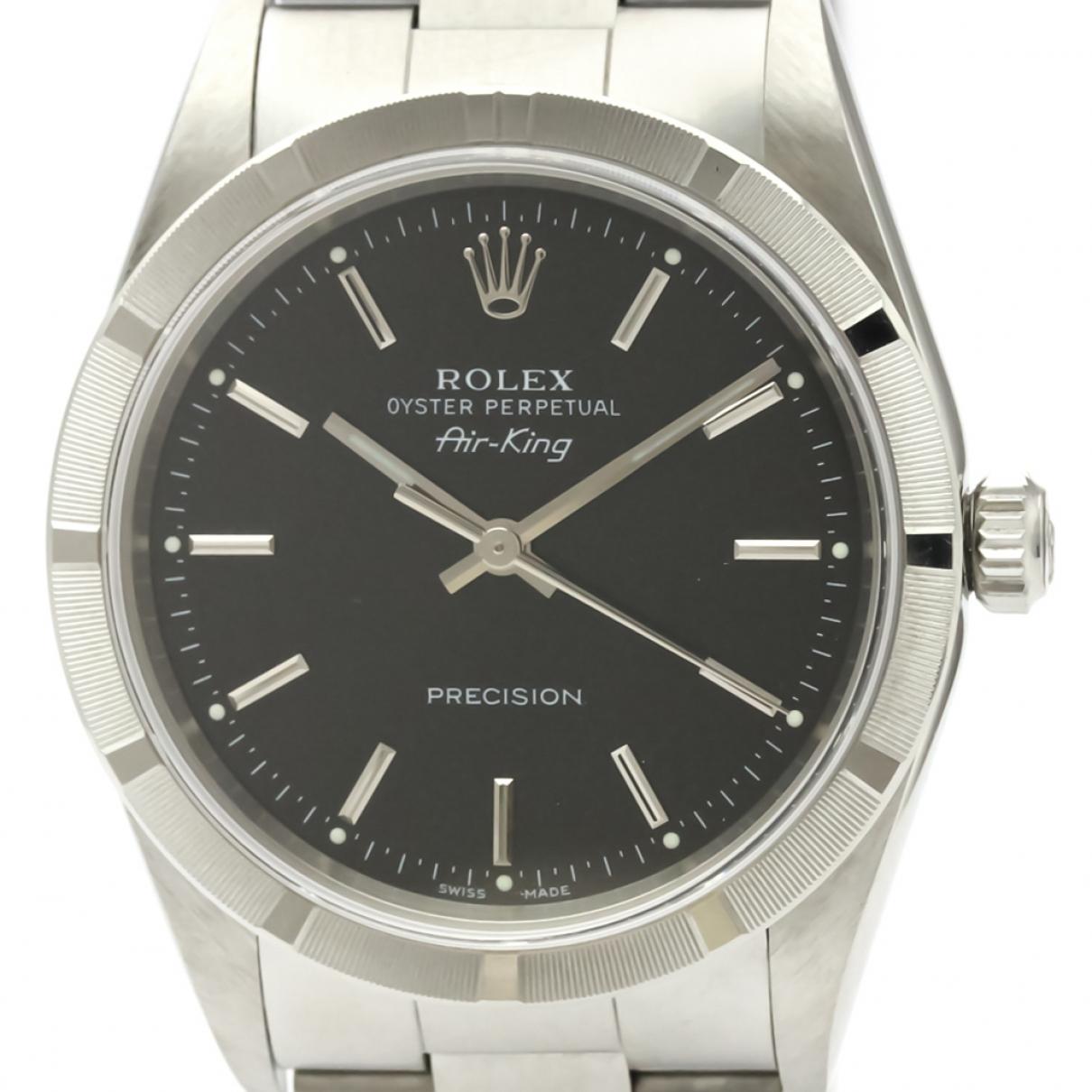 Rolex Air King Black Steel watch for Men \N