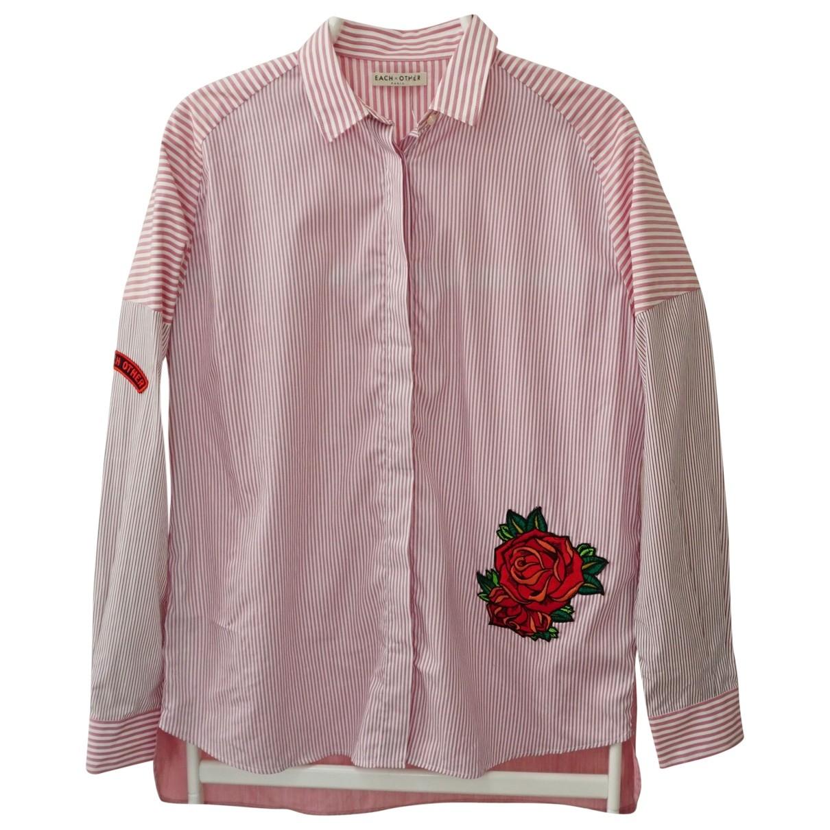 Each X \N Pink Cotton  top for Women S International