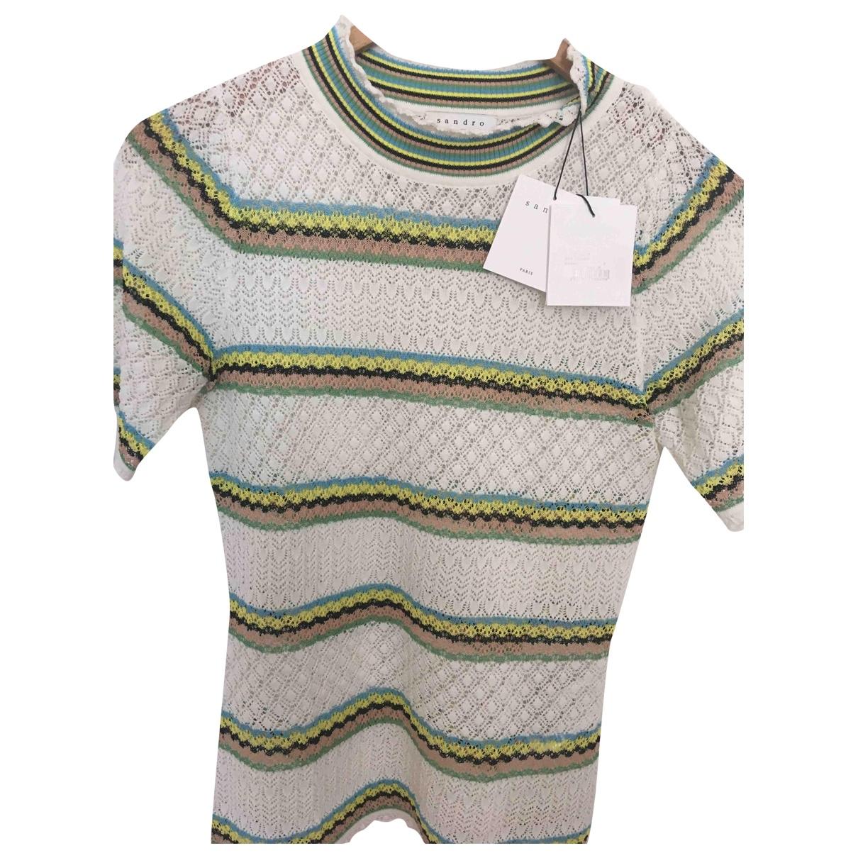 Sandro \N Beige Cotton Knitwear for Women 36 FR