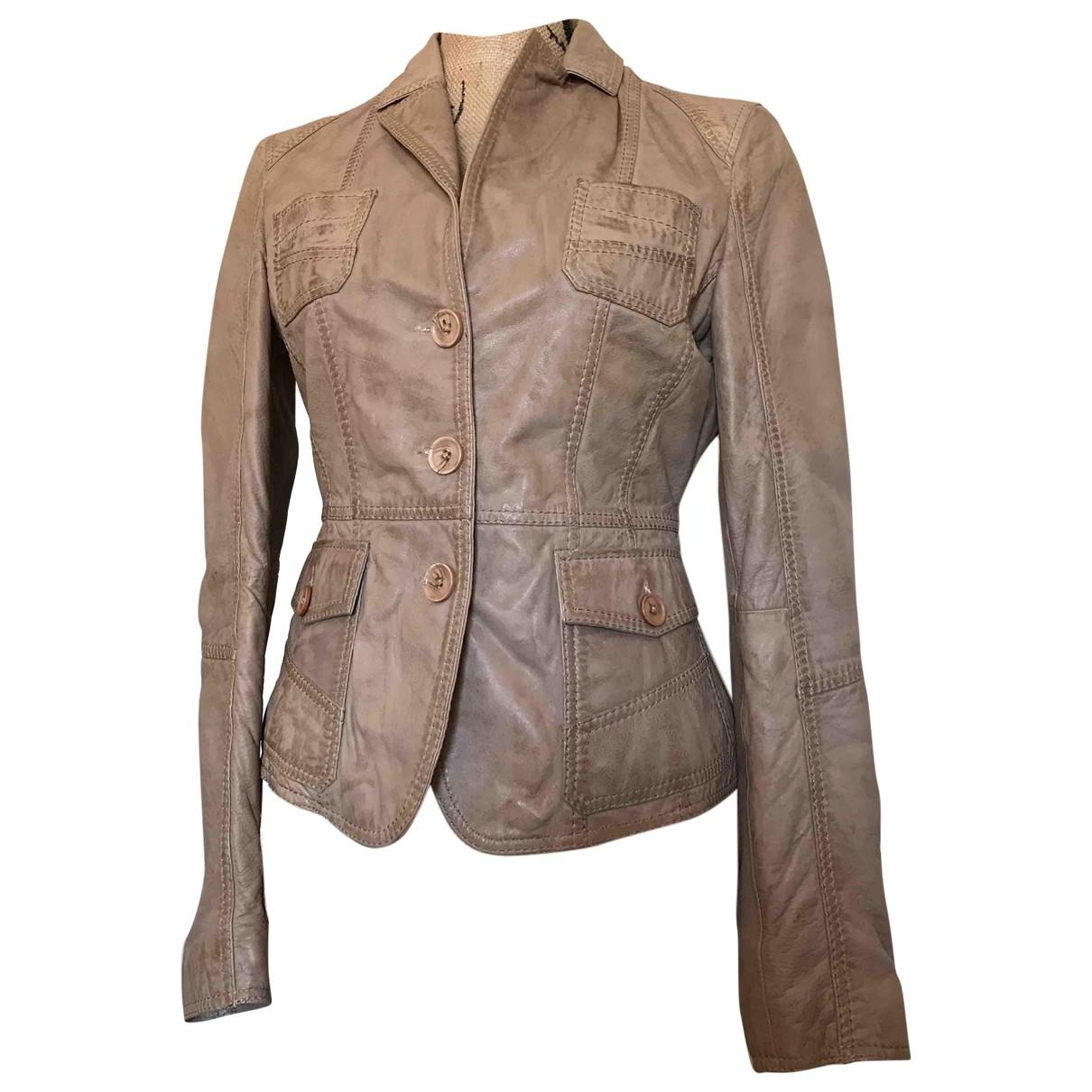 Oakwood \N Beige Leather jacket for Women S International