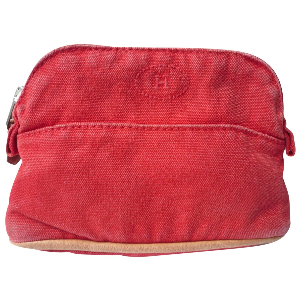 Hermès Bolide Red Cotton Travel bag for Women \N
