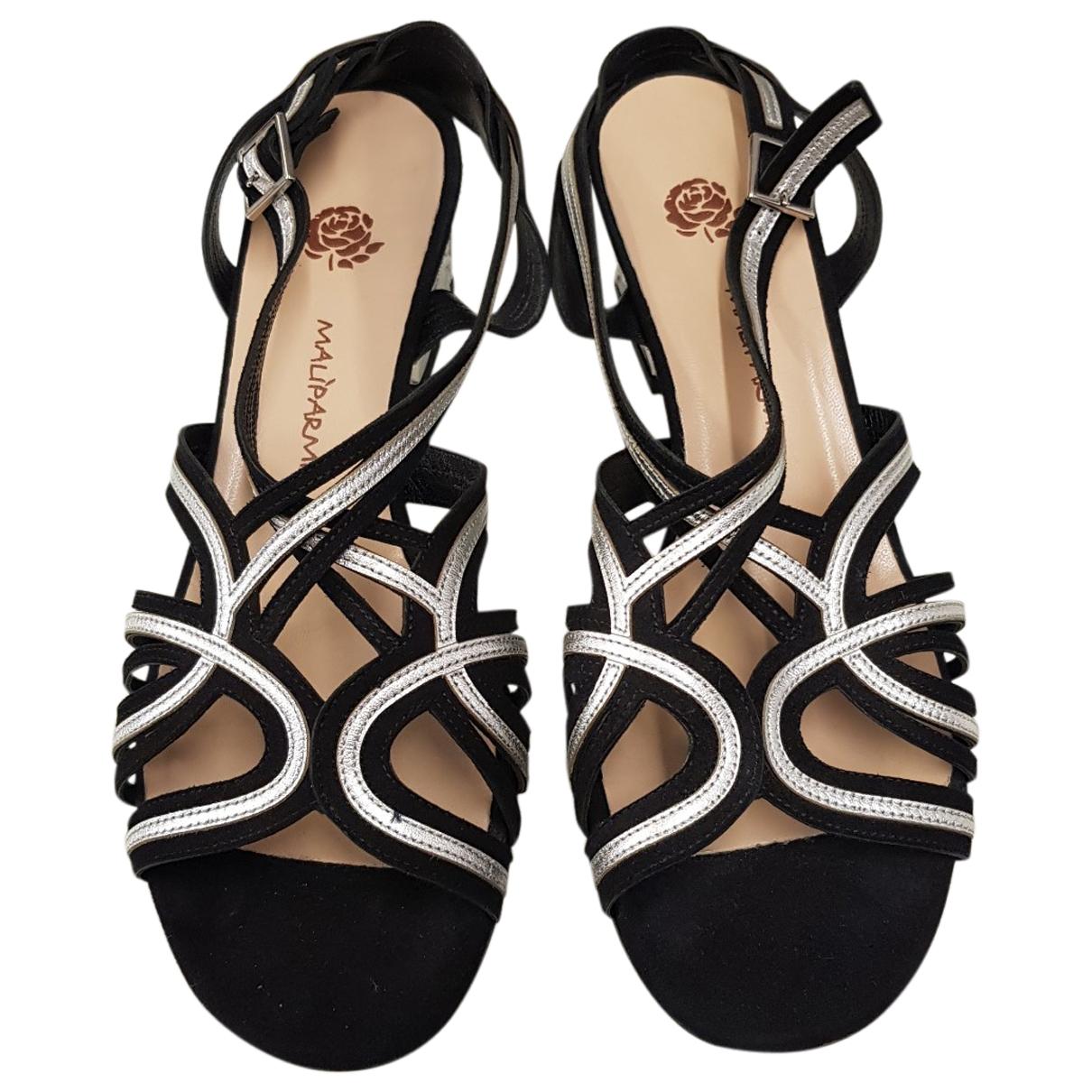 Maliparmi \N Silver Leather Sandals for Women 39 IT