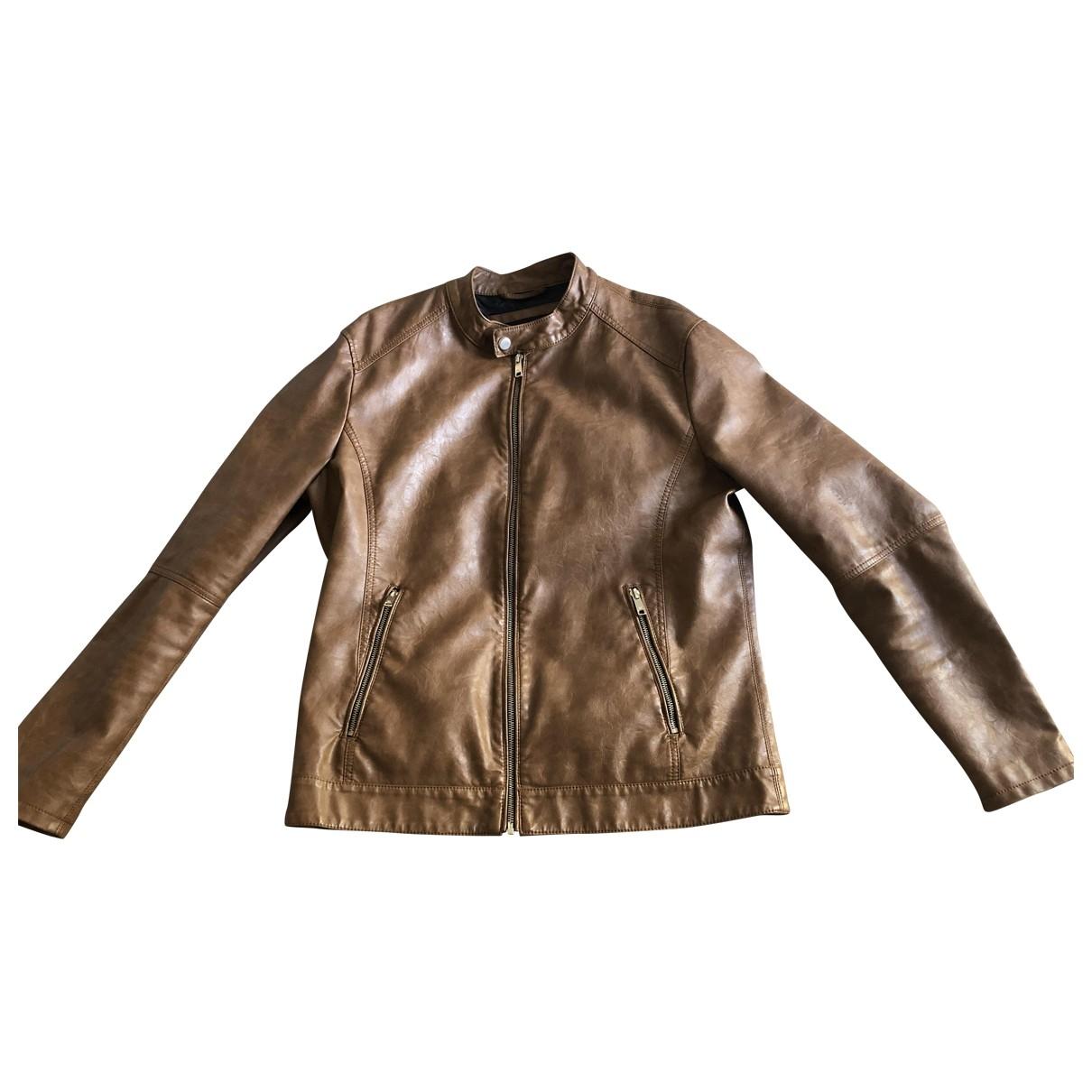 Zara \N Camel Leather jacket  for Men L International