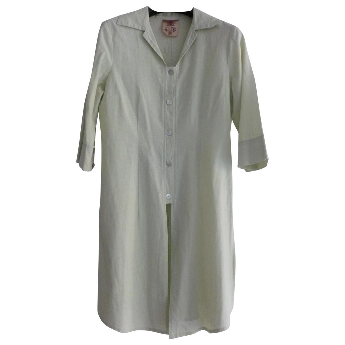 Non Signé / Unsigned \N Ecru Linen dress for Women 38 FR