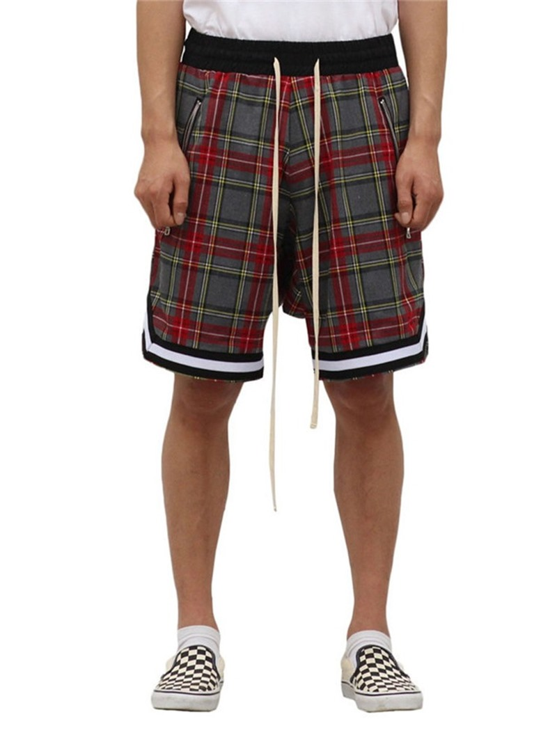 Ericdress Plaid Loose Casual Lace-Up Shorts