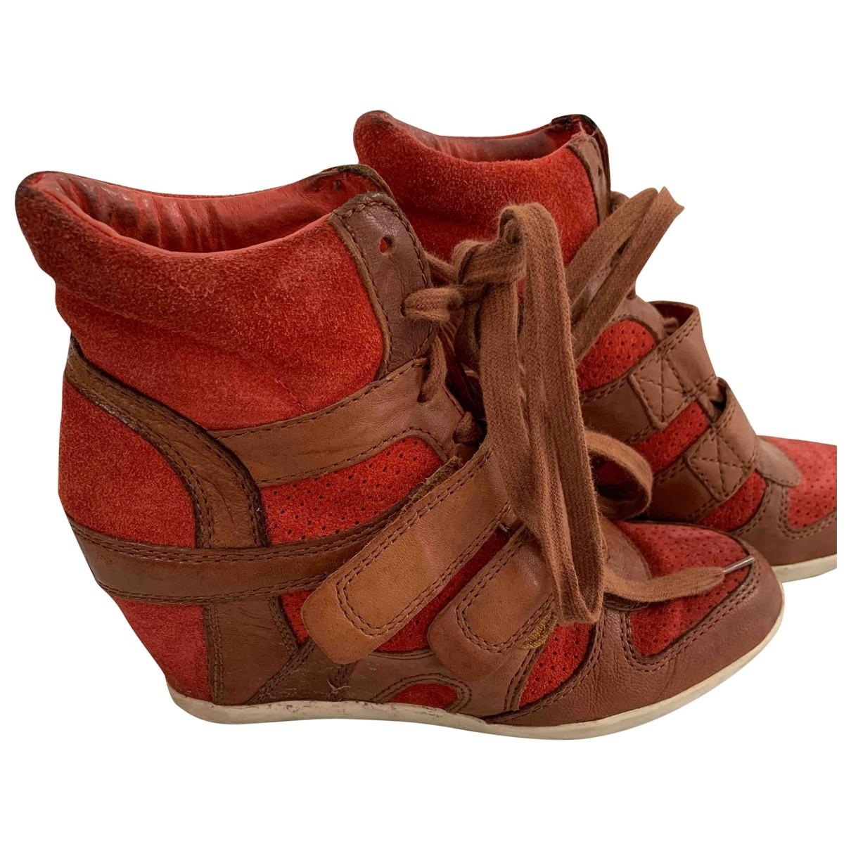 Ash - Baskets   pour femme en suede - marron