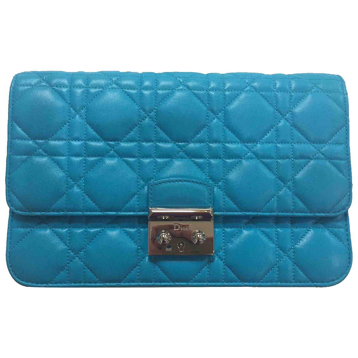 Dior Miss Dior Handtasche in  Tuerkis Leder