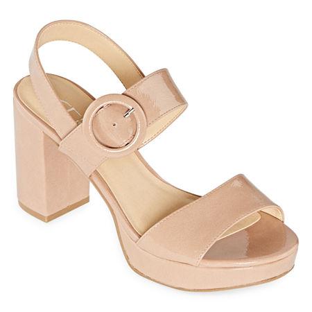CL by Laundry Womens Gwenn Pumps Block Heel, 8 1/2 Medium, Orange