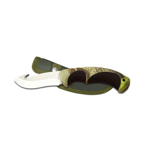 Fixed Blade Gut Hook Camoflauge Knife, Model SK-913