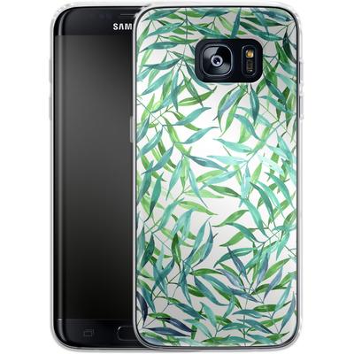 Samsung Galaxy S7 Edge Silikon Handyhuelle - Palm Print von Becky Starsmore