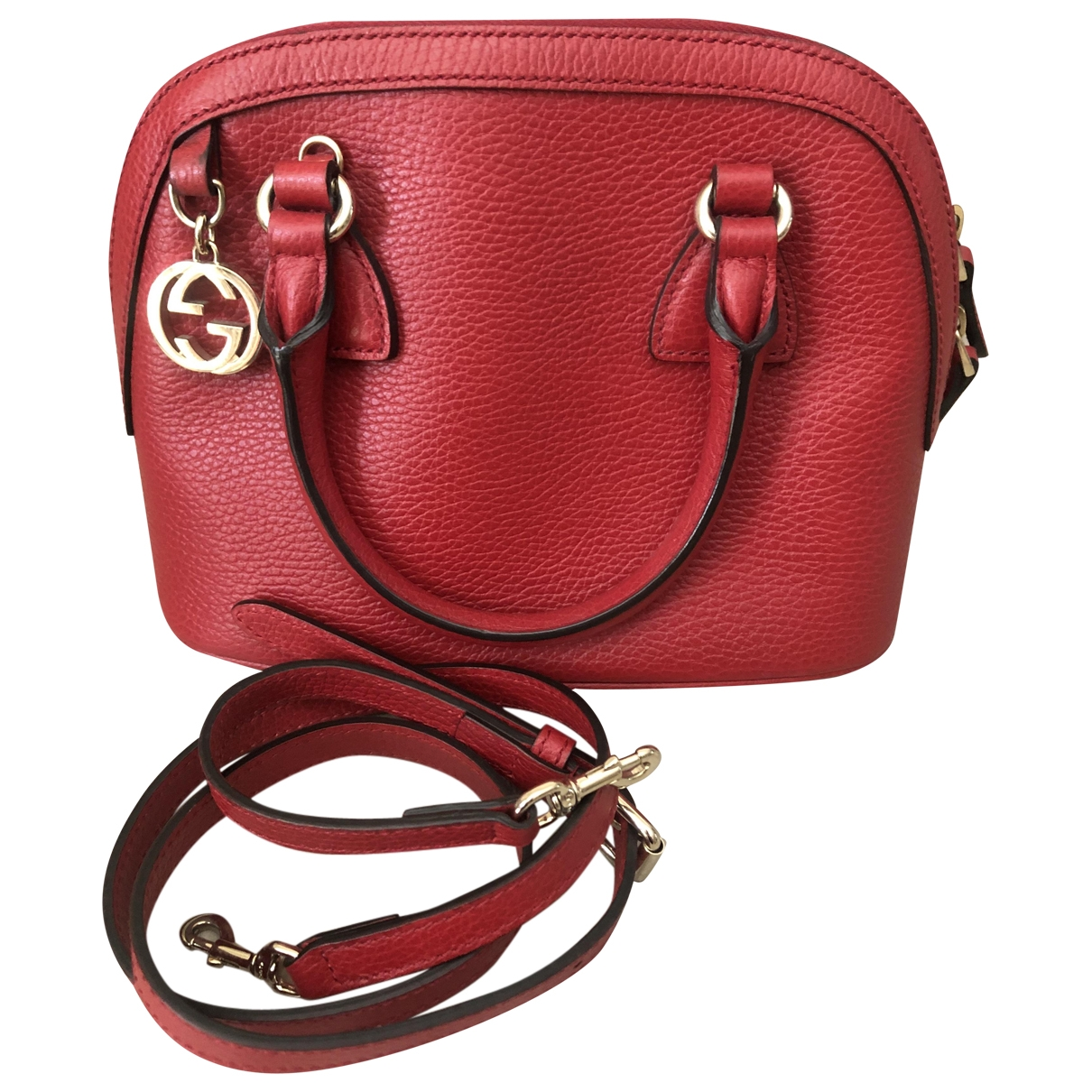 Gucci Dome Handtasche in  Rot Leder