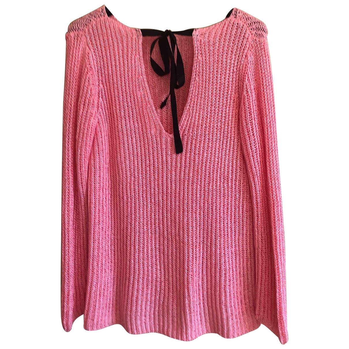 Zara \N Pink Cotton Knitwear for Women 44 IT